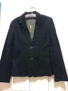 🚚 絨布黑色西裝外套