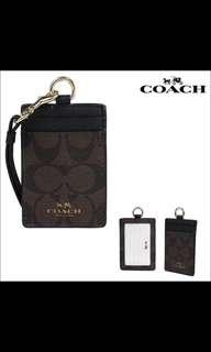 🚚 Coach Lanyard F63274 dark brown
