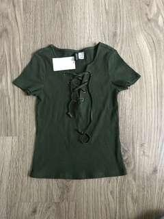 H & M Green Army Blouses