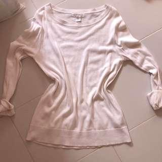 🚚 White Long Sleeve Top