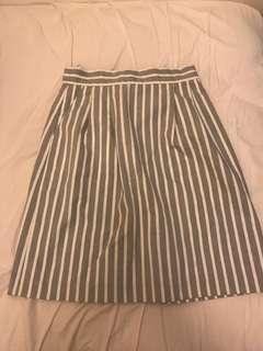 rope picnic stripe skirt 直間 直紋 斯文裙 OL dress uniqlo gu