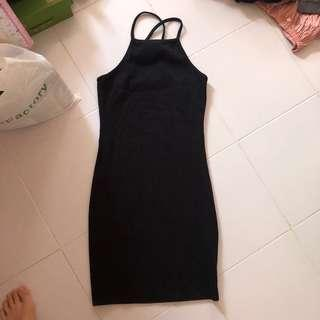 🚚 Black Halter Dress