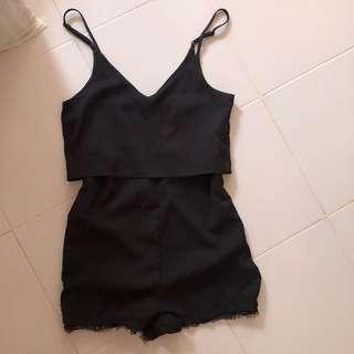 🚚 Black Lace Romper