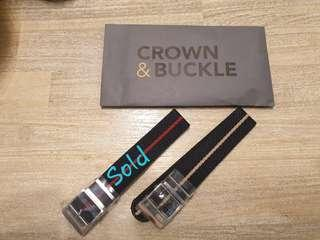 🚚 22mm Crown and Buckle Nato Chevron strap