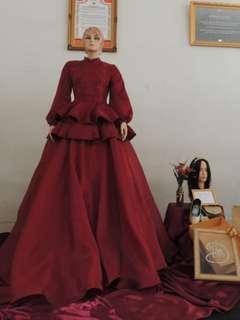 Disewakan dan terima jahitan gaun pesta dan gaun pengantin murah