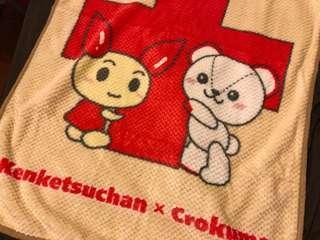 日本紅十字會 140週年 小毛毯 非賣品