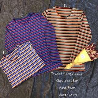 Long sleeves stripe shirt