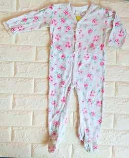 #GayaRaya Pink flowers Sleepsuit (18m)