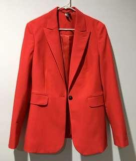 TOPSHOP ORIGINAL RED SINGLE BREASTED BLAZER