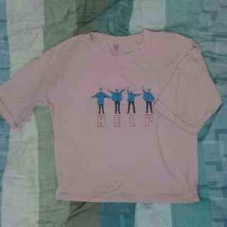 🚚 粉紅 短袖 上衣