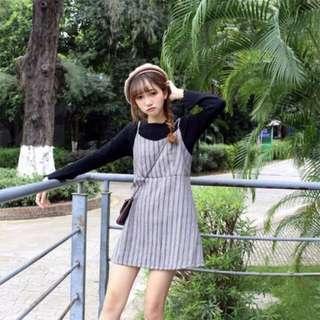 🚚 Striped Dress In Grey