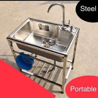Preorder portable basin / steel sink / hand wash bowl