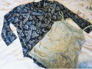 Blouse and singlet set