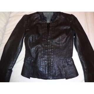 Genuine 100% Black Leather Jacket