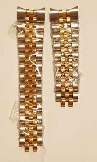 2 tone 316L stainless steel watch strap without clasp