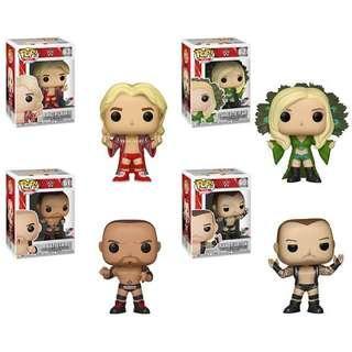 PO: Funko Pop WWE Ric Flair, Charlotte Flair, Randy Orton & Batista