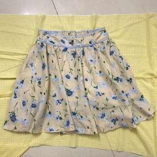 裙褲#Floral Skirt