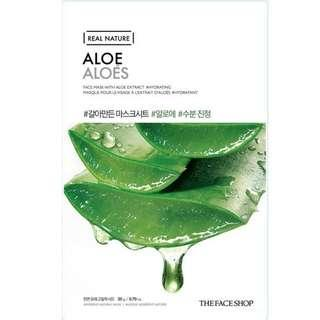 The face shop real nature mask sheet aloe original korea