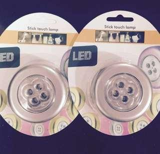 10 for $9 Led button light house car usage easy battery