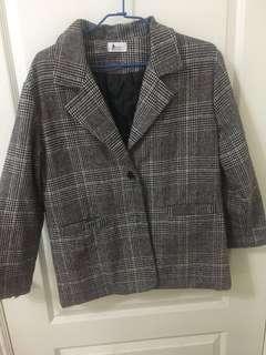西裝外套 長針織外套