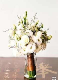 Eustomas bridal bouquet