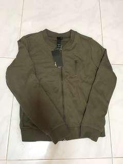BNWT Army green bomber jacket