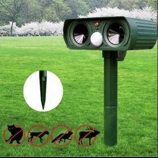 Solar powered Motion Activated Animal Repeller