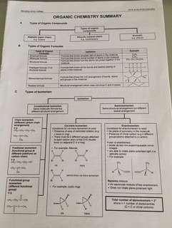 H2 organic chemistry nyjc & rjc summary notes