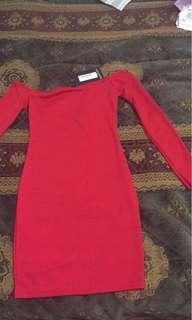 BNWT Red prettylittlething dress