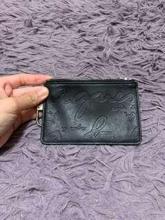 法國著名品牌agnes b voyage黑色皮製小型散紙包 👛