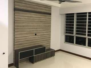 🔥HARI RAYA PROMOTION 5ft Feature Wall with Tv Console🔥