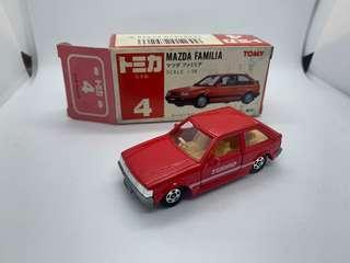 tomy tomica japan 4 5-1 mazda familia 1500xg 日本製