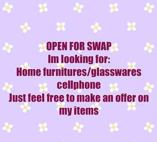 Swap your housewares /cellphone to my items