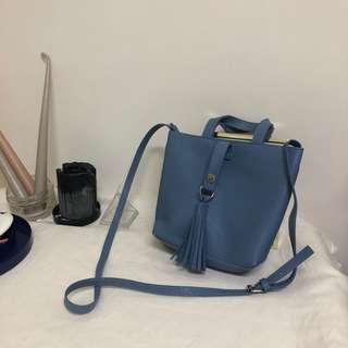 質感蔚藍小包(手提、側背)