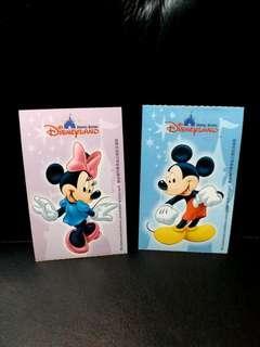 絕版 2張 迪士尼門票 紀念版 珍藏  經典 收藏品 入場卷 門票 2006年 Disneyland hong kong mickey minnie disney ticket