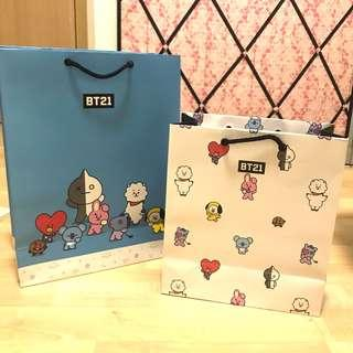 🚚 official bt21 gift bags