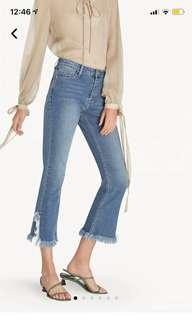 Pomelo Side Slit Frayed Hem Jeans