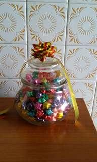 Candy Jar with Lucky Stars