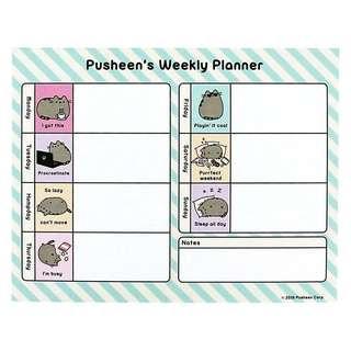 Pusheen Weekly Planner Sheet Pads