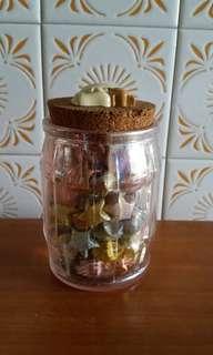 Lucky Stars in Glass Jar