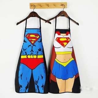 超人&女超人圍裙2件組(沒用過只拆過包裝)