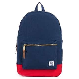 🚚 Herschel Settlement Backpack (Navy x Red)