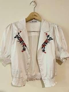 🚚 Major 復古短版緞面罩衫