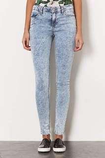 Topshop Leigh Acid-wash Jeans.