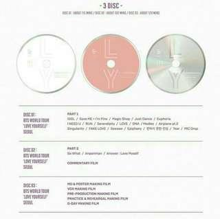 WTB/LF | BTS LOVE YOURSELF DVD CDs AND DIGIPAK