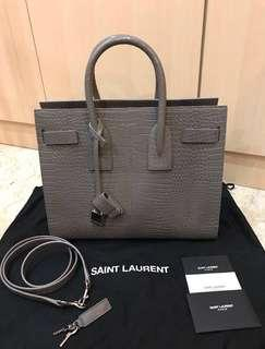 🖤FAST DEAL $2650🖤 Saint Laurent Classic Small Sac Du Jour (Croc-embossed leather in Fog)