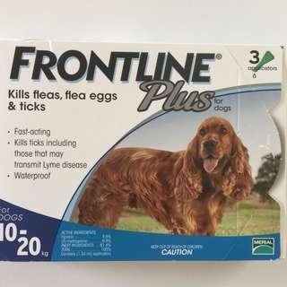 (南南貓舍) Frontline Plus 10kg-20kg 狗用 防蝨 防牛蜱 滴頸劑