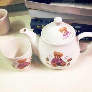 🚚 小熊茶杯組(二手)