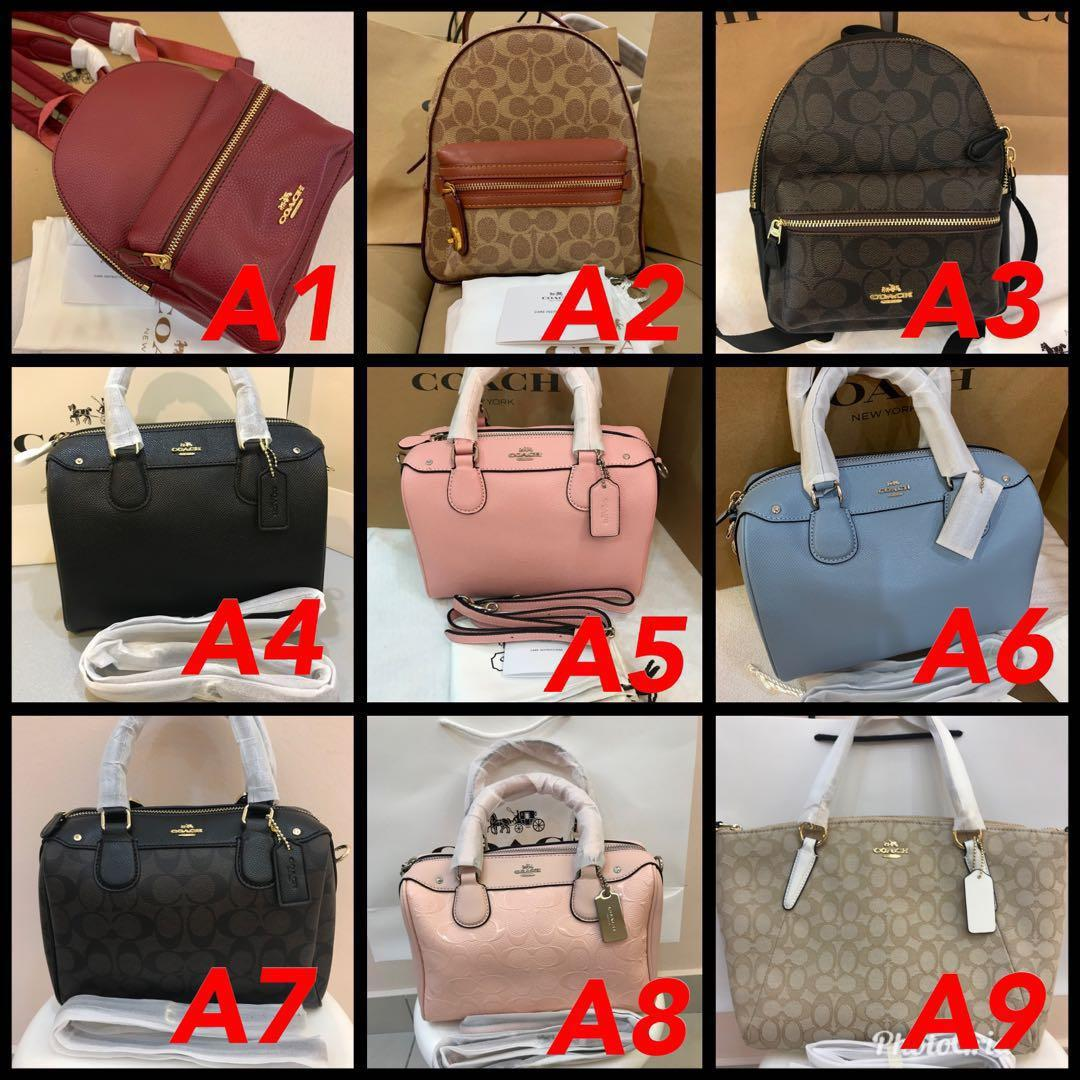 (25/03/19)Ready stock Authentic coach women bag wallet listing Tory Burch backpack totes satchel