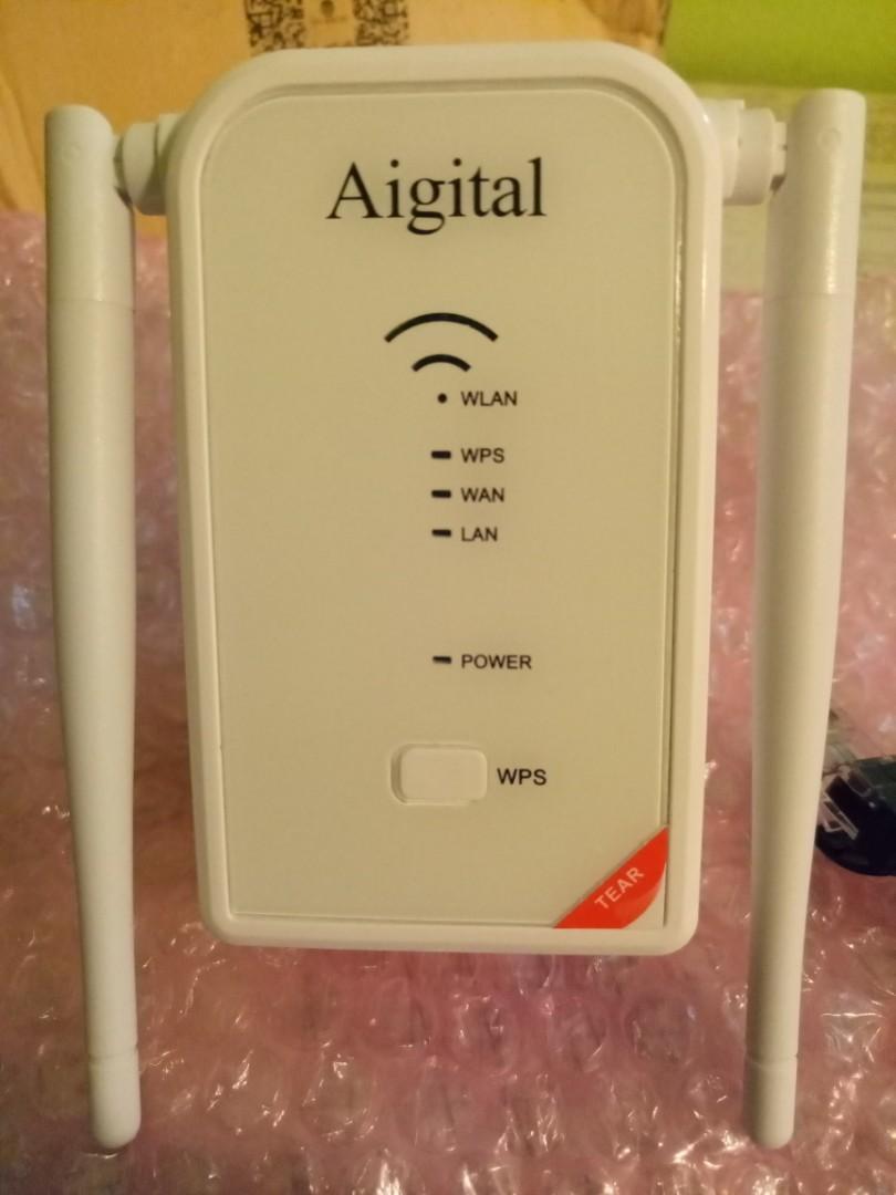 Aigital WiFi Router Long Range Extender 300M Wi-Fi Signal Booster Amplifier  Wireless Hotspot Access Point Mini Router AP Repeater Mode Dual External